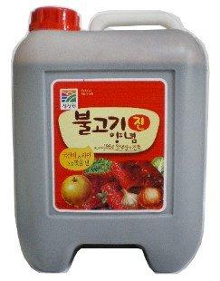 包裝:10kg  成份: 醬油  小麥  淡鹽  玉米醬  水梨  洋蔥精  大蒜   麥芽糖  鹽  黑胡椒  芝麻  產地:韓國